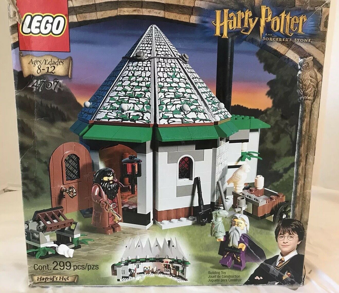 Lego 4707 Harry Potter Hagrid's Hut W/ Box and Instructions Hagrids