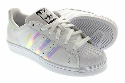 1563b3fc4fd Adidas Superstar J White Hologram Iridescent GS AQ6278 Girls Size 4-7Y
