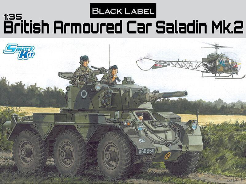 Dragon 1   35 schwarz etichetta britischen autoblindo saladin modello 2   3604