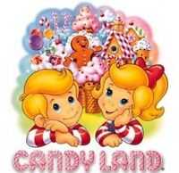 Candyland Candy Land Board Game Iron On T Shirt / Pillowcase Fabric Transfer 1