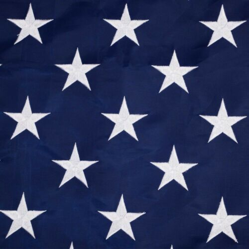 3/'x5/' ft American Flag Sewn Stripes Embroidered Stars Brass Grommets USA US U.S.