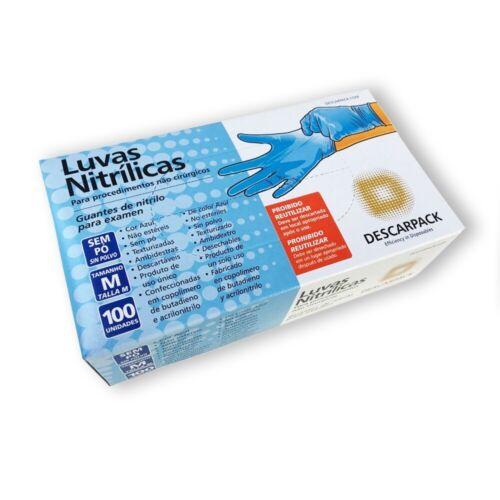 50//100//1000 pcs Gants d/'examen en nitrile bleu sans Poudre S, M, L Xl