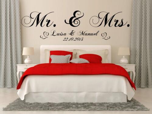 Tapisserie mariage Just Married Chambre Fête Décoration Cadeau autodeko