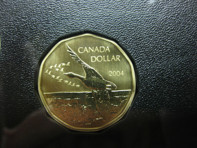 2004 Canada Specimen Lesser Canada Goose Loonie ($1) *Rare*