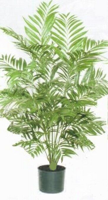 4ft PHOENIX PALM ARTIFICIAL TREE SILK PLANT BUSH DECOR IN POT HOME DECOR FLOWER