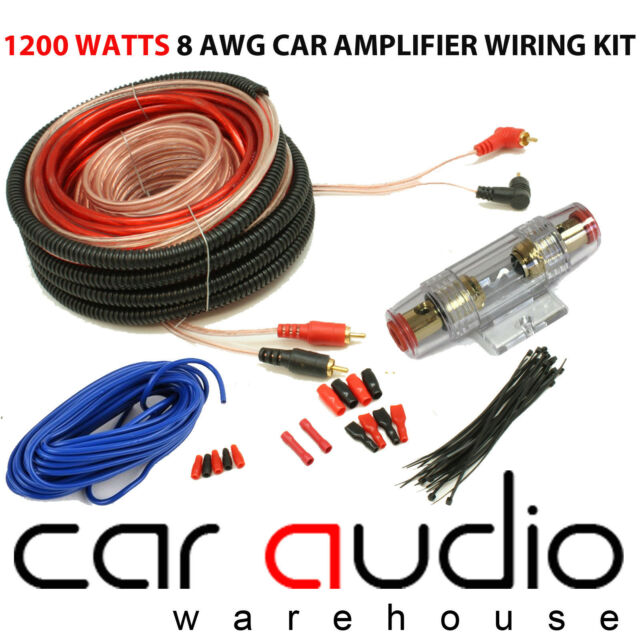 MD SOUND 8 AWG 1200 Watt Complete 8 Gauge Car Amplifier Amp Sub Wiring Kit