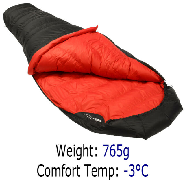 White Duck Down Envelope Sleeping Bag Camping Hiking  Filling Keep Warm 600-1000