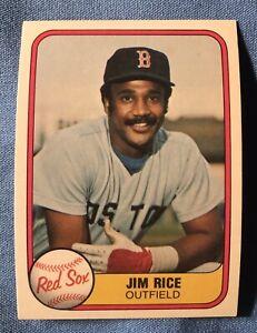 Lot of 80 Cards 1981 Fleer Jim Rice Baseball Card # 222 RG1