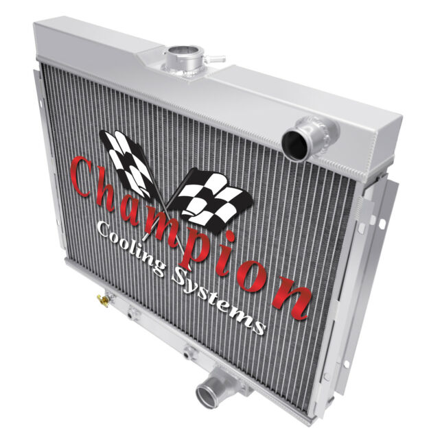 "2 Row 1/"" SZ Champion Radiator Lowhose Passenger 24/"" Core for 1967-70 Mustang"