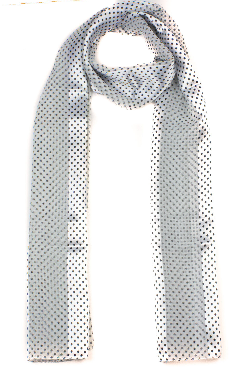 Medium Polka Dot Scarf Long Satin Chiffon Neck Wrap Ladies Dotted scarf Small