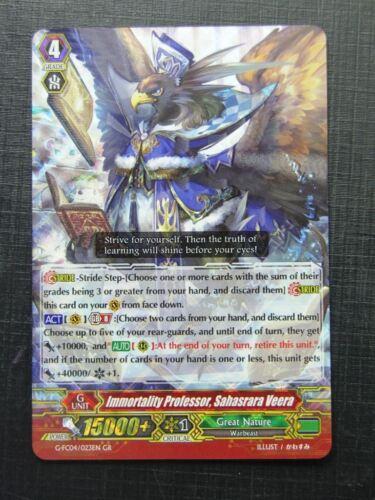 Vanguard # 9F75 Immortality Professor Sahasrara Veera G-FC04 GR
