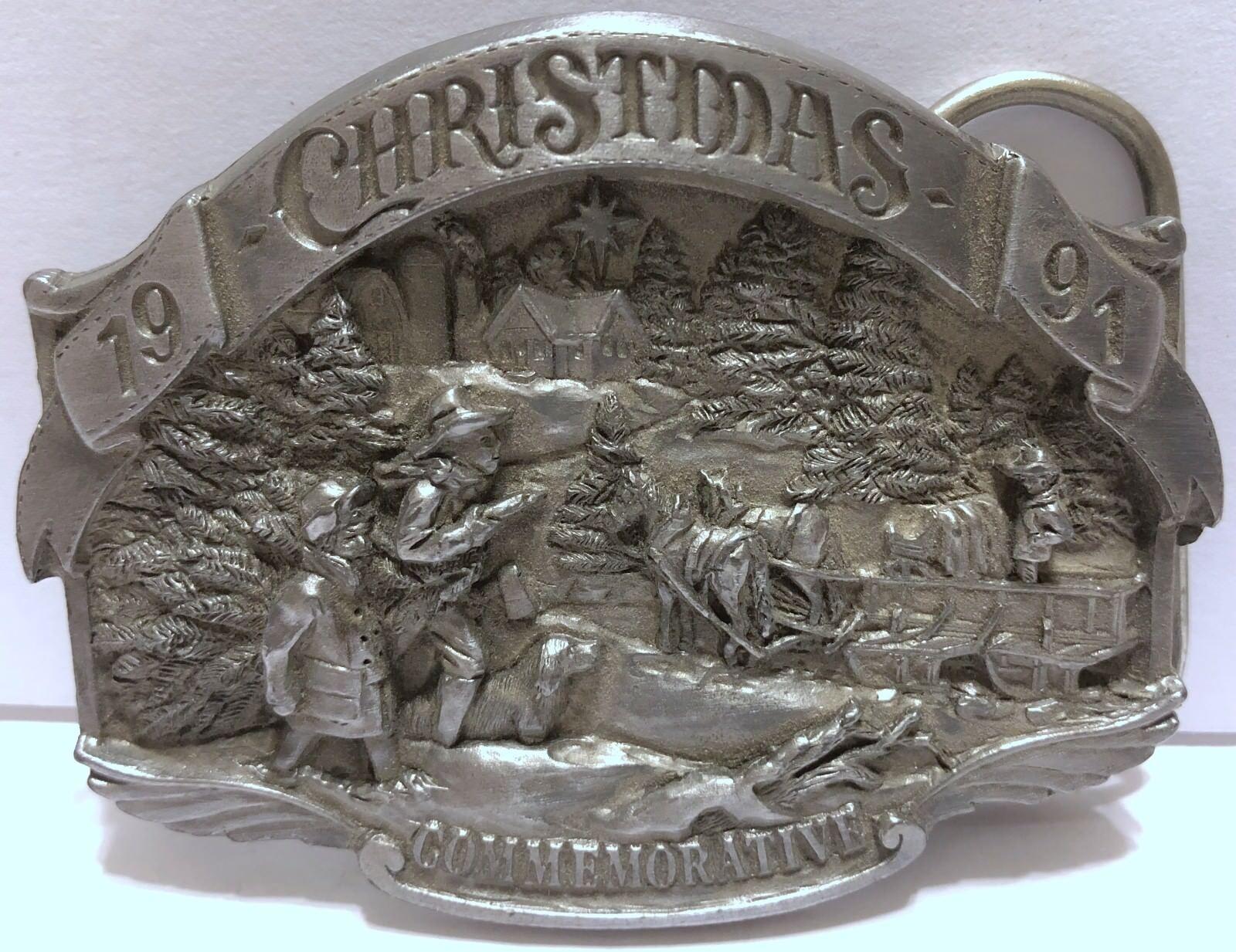 VTG Arroyo Grande Christmas Commemorative Stagecoach Pioneers Through River 1991