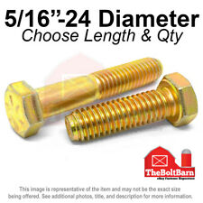 516 24 Grade 8 Hex Cap Screws Fine Thread Sae Hex Bolts Pick Length Amp Qty