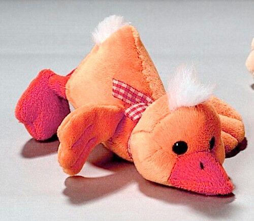 Althans Liegeentchen Entchen aus Plüsch Farbe: orange ca. 12 cm