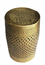 BEAUTIFUL AUTHENTIC SOLID BRASS STOOL/STORAGE - Traditional design-Golden