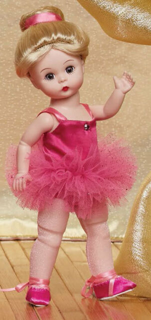 """Madame Alexander 8"""" PIROUETTE IN PINK BLOND 71625 & FREE Doll Stand! NEW!"""