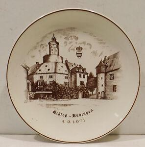 Wachtersbach-Plate-Wall-Plate-034-Castle-Budingen-4-9-1971-034-Western-Germany