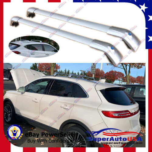 Top Roof Rack for LINCOLN MKC 2014-19 Silver Baggage Luggage Cross Bar Crossbar