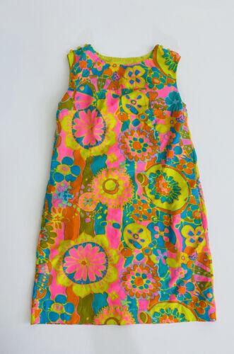 Vintage Gabar New York Neon Colors Dress