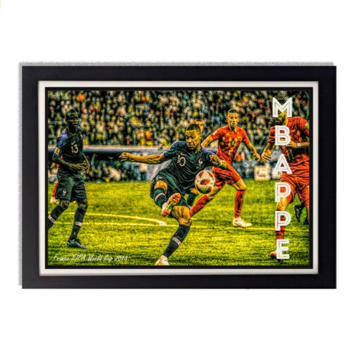 France 2018 FIFA World Cup Kylian Mbappe Glossy Poster 11in x 17in 24in x 36in