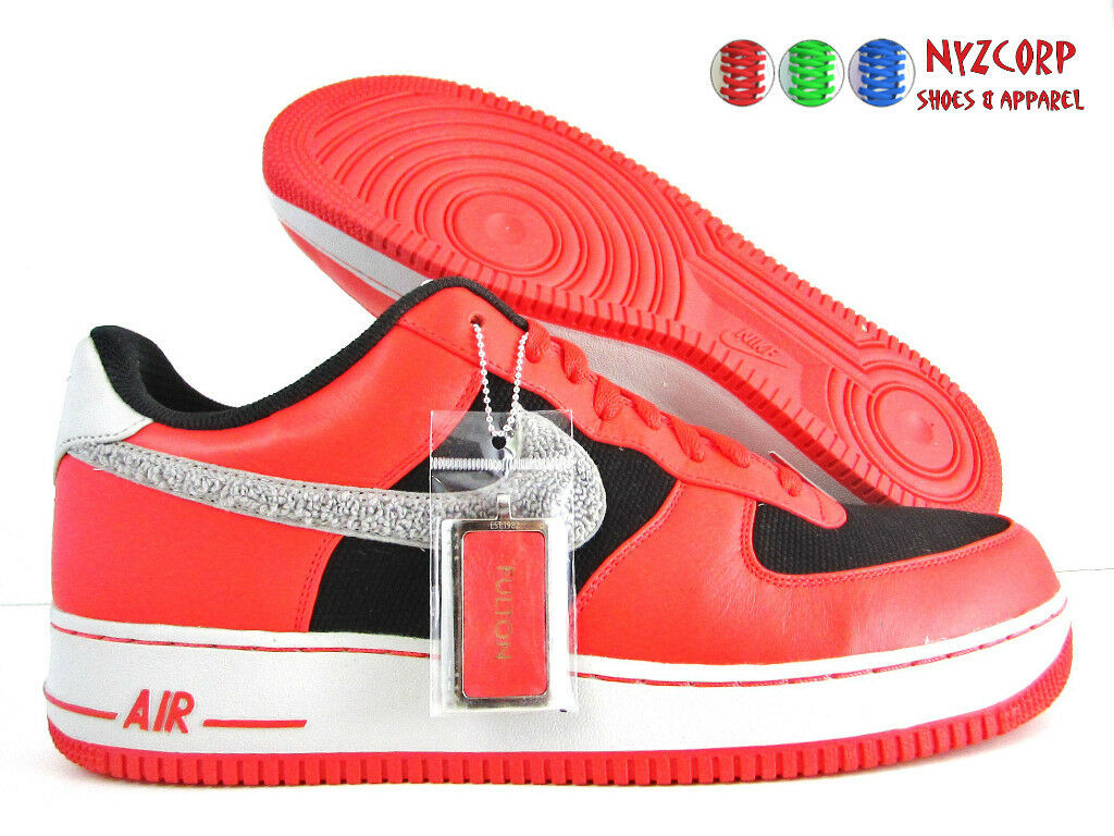 NIKE AIR FORCE 1 iD RED-BLACK-GREY-WHITE SZ 13