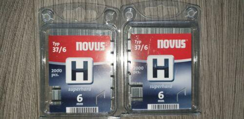 mm Novus 044-0369 verzinkter feindrahtklamm Type H 37//6  4000 St 10 superhard