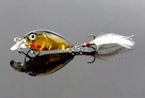 3D Fish Eye Artificial Lure Bait Fishing Lures Crank Baits Mini Crankbait US