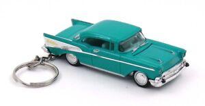 1957 Chevy Bel Air Green Chevrolet Key Chain Ring Fob Keychain