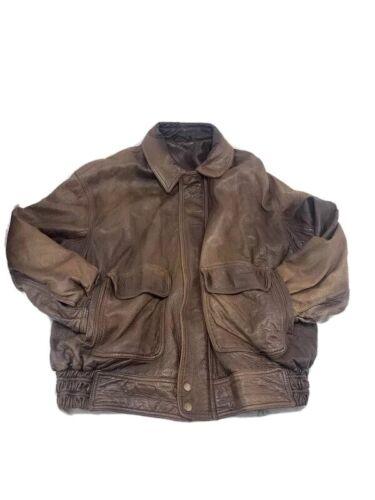 Vtg Distressed Men XL Coach Brown Soft Leather Jac