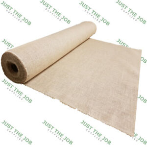 Luxury-FINE-Woven-Hessian-Jute-100cm-Burlap-Natural-Craft-Upholstery-Sack-Cloth