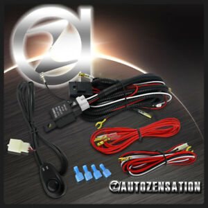 led fog light driving lamp wire harness kit w wiring switch relayimage is loading led fog light driving lamp wire harness kit