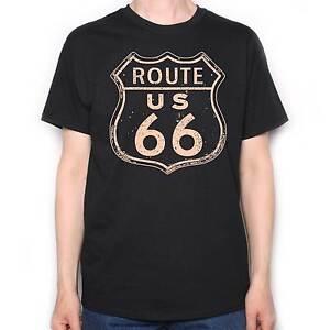 route 66 t shirt muscle car custom bike chopper bobber. Black Bedroom Furniture Sets. Home Design Ideas