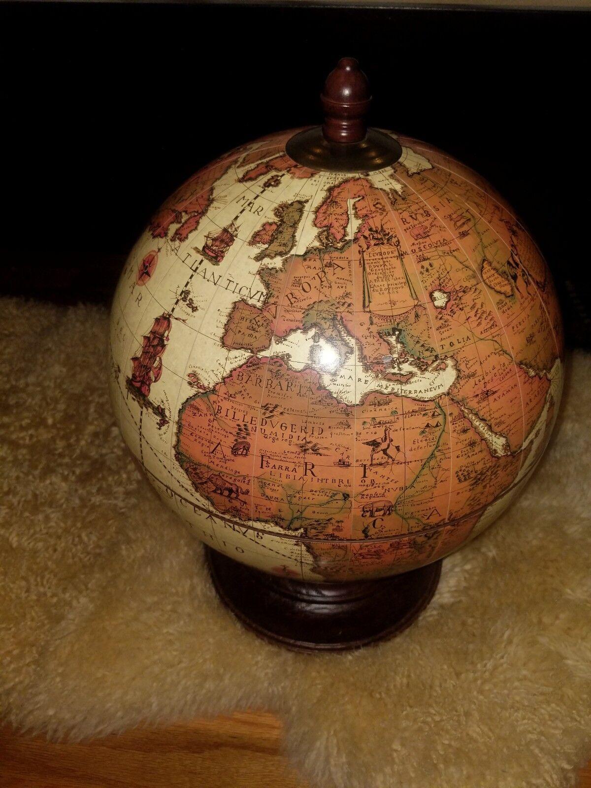Vintage Table Top Mini-bar globe-Classique Couleur,