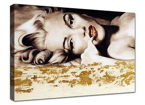 Quadro Moderno Cm 100x70 Stampa su Tela Canvas Quadri Moderni Marilyn Monroe