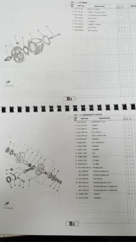 YAMAHA PW50 5PG4 EUROPE JAPAN PARTS MANUAL PRINTED COMB BOUND ...