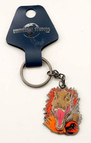 NEW Universal Studios Jurassic World Fallen Kingdom TREX Logo Key Chain