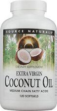 Extra Virgin Coconut Oil, Source Naturals, 60 gelcap