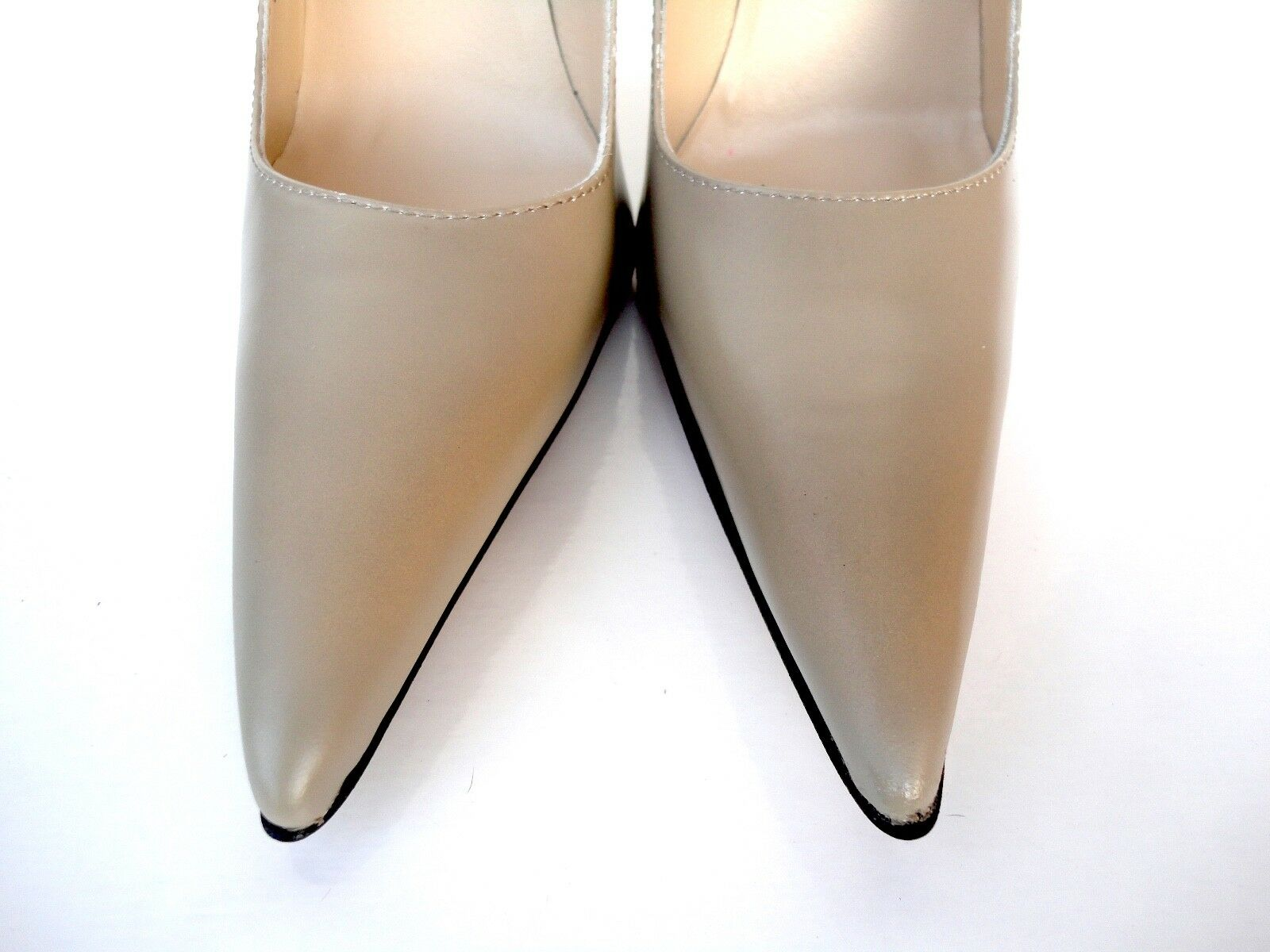 GIOHEL ITALY DECOLTE HIGH HEELS POINTY TOE PUMPS SCHUHE LEATHER DECOLTE ITALY BEIGE NUDE 40 8fbb88