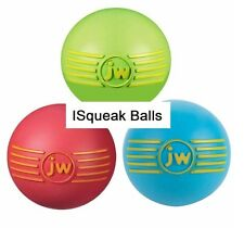 iSqueak Balls Toys for Dogs Fun Rubber Squeaky Durable Bouncy Medium Dog Toy