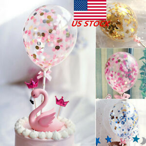 Birthday Party Colorful Confetti Balloon Insert Cake Topper Latex Baby Shower