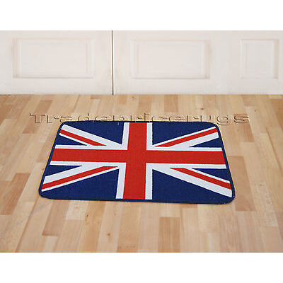 DISCOUNT LARGE UNION JACK RUG TRADITIONAL RED WHITE BLUE OR BLACK GREY WHITE
