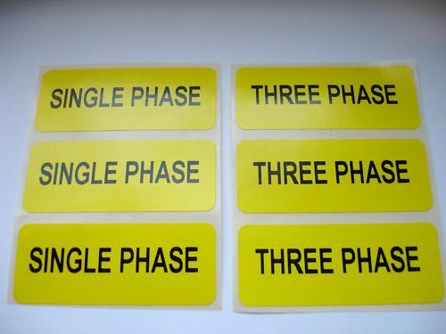 100 Electrical Safety SINGLE PHASE THREE PHASE Labels