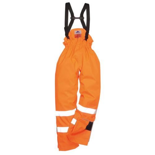 Portwest Homme bizflame Pluie Non Doublée-Hi-Vis antistatique FR pantalon multicolore Taille S780