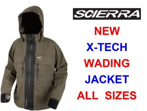 SCIERRA X-TECH WADING JACKET 100/% WATERPROOF FOR TROUT FLY ROD /& REEL FISHING