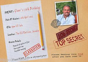 100 x personalised surprise top secret shhh birthday party image is loading 100 x personalised surprise top secret shhh birthday filmwisefo