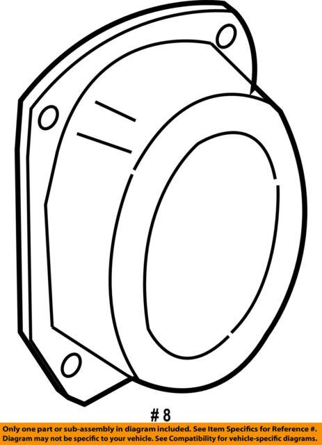 Buy Oem Ford Expedition Rear Original Speaker 08 14 7l1z18808c
