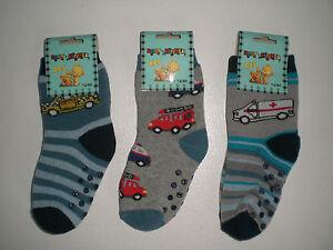 98-104 Jungen Mädchen Kinder Auto 86-92 3 Paar ABS Baby Söckchen Socken 74-80