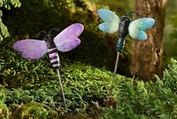 Miniature Fairy Garden Dragonfly Pick Glow-in-the-dark Set Of 2 Asst Gi 700350