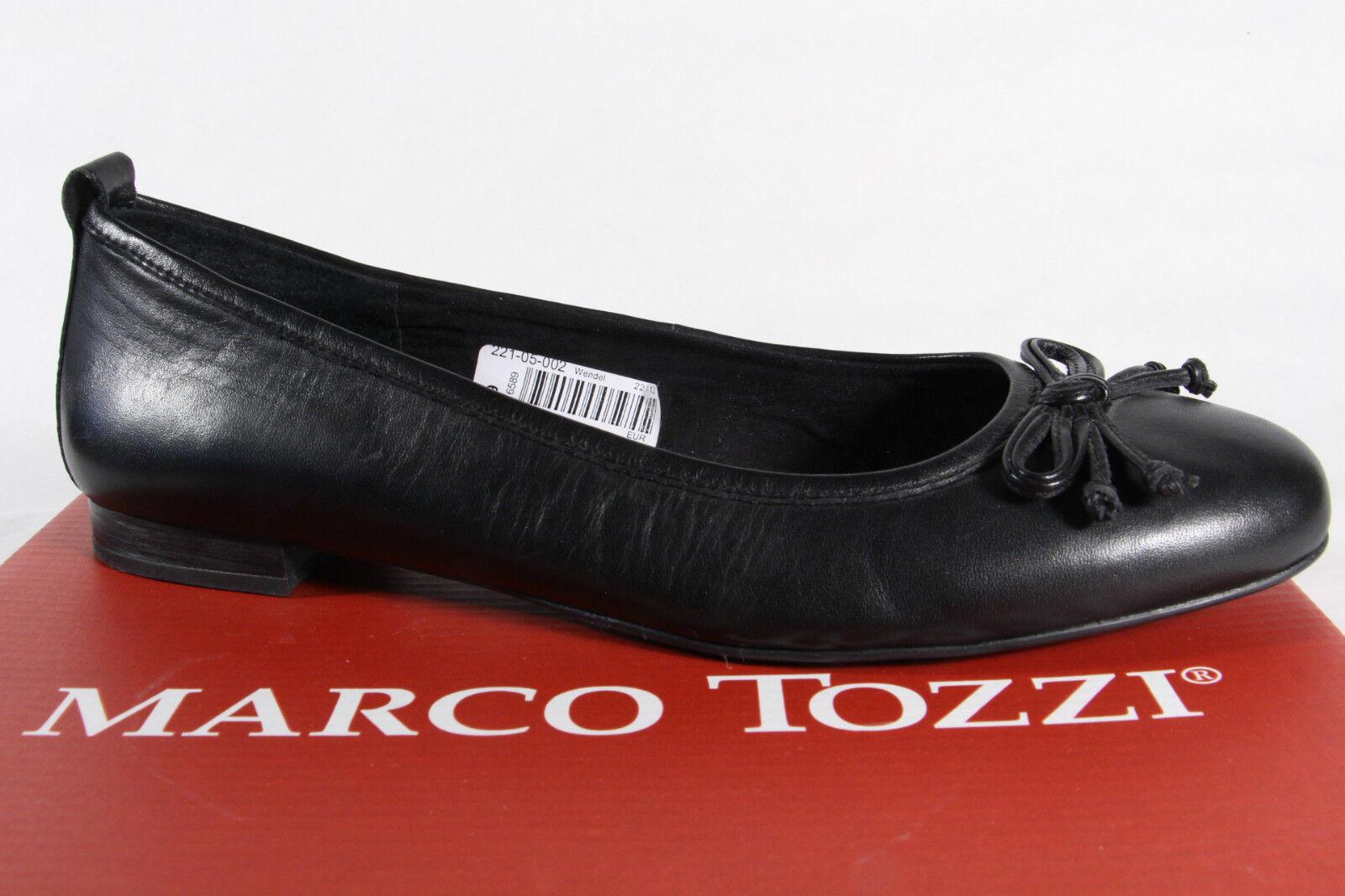Marco schwarz Tozzi Slipper Ballerina Pumps schwarz Marco Echtleder, weiche Innensohle NEU f97dd9