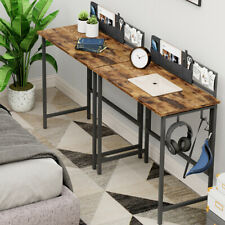 Folding Computer Desk Pc Laptop With Hook Corner Table Writing Study Home Wood